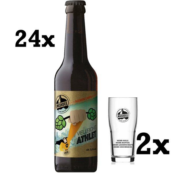 VielleichtAthlet 24 x + 2 x Brewhouse Becher (versandkostenfrei // MHD 19.05.21)